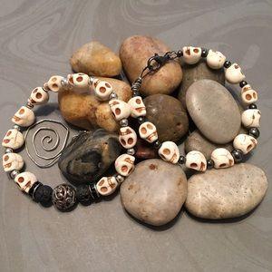 2 Skull Bracelets
